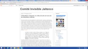 Cita parcial a esta columna en el blog del Comité Invisible Jaltenco.